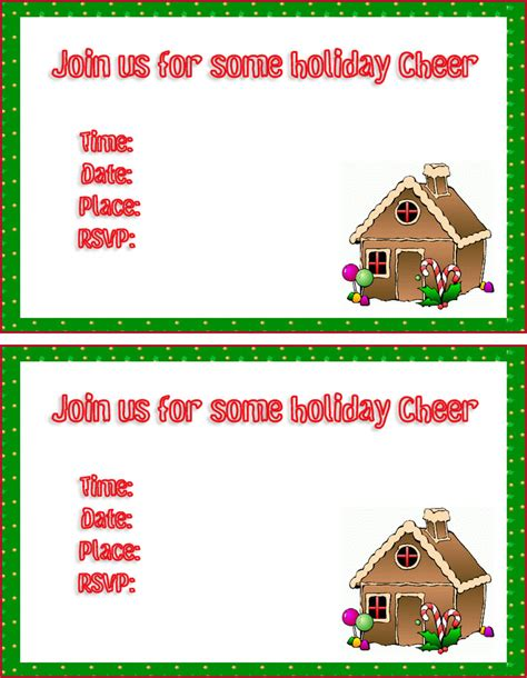 printable christmas invitation cards christmas party invitations templates free printables images
