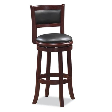 shop boraam industries augusta cherry bar stool at lowes