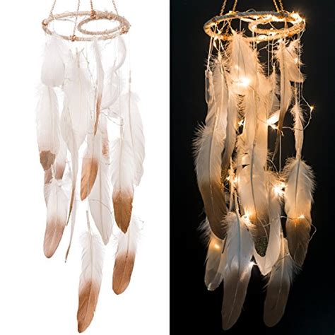 Copper Decorations Home Ling S Moment Feather Dream Catcher Mobile Led Fairy