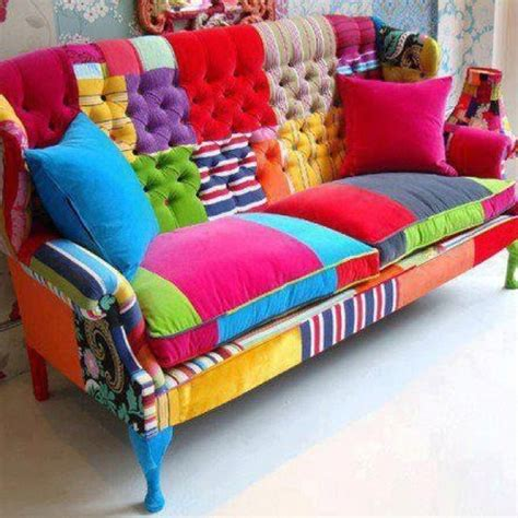 Colorful Couches Rainbow Colors Funky Finds