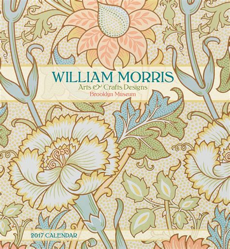 design art and craft william morris arts crafts design 2017 wall calendar