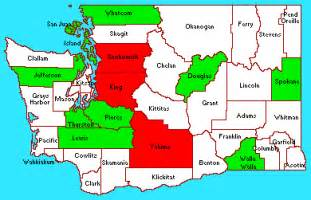 state of washington map with cities county
