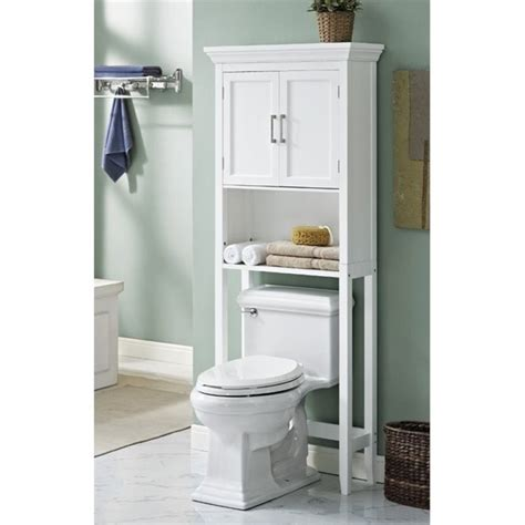 Bathroom Space Saver In Antique White Space Saver Cabinet In White Axcbc 007 Wh