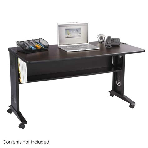 safco 1933 54 reversible top desk safco 54 quot w reversible top mobile desk 1933 dew office