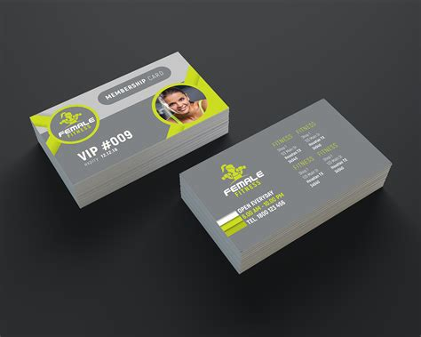 Fitness Business Card Template by Fitness Business Cards Business Card Tips