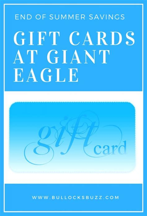 Gift Card Giant Eagle - end of summer savings on gift cards at giant eagle gendosummrgift