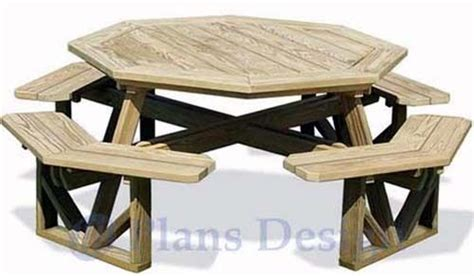 classic large octagon picnic table bench woodworking