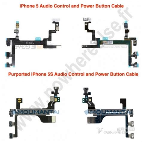 Sparepart Iphone 5 iphone 5s power button cable and audio leaked
