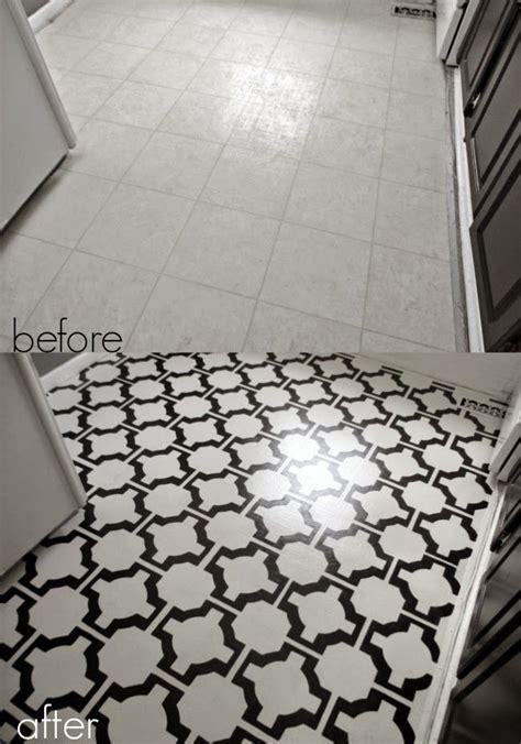 DIY Painted Vinyl Floors: Turn gross, dated sheet vinyl