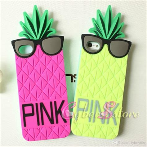 Ultrathin Mirror Samsung Galaxy Grand 2 Softcase Soft Tp 1707 for iphone 6 i6 4 7 inch 3d pineapple pink silicone