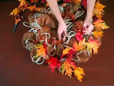 fall geo mesh wreath youtube