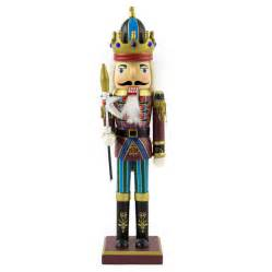 solar icicle fairy lights kings nutcracker 30cm 4 asst nutcrackers