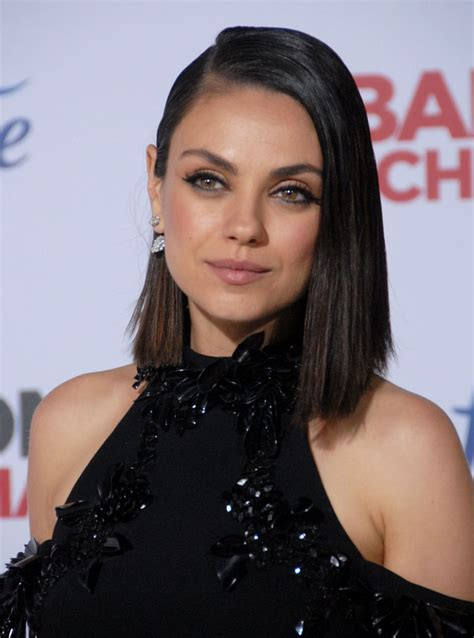 Mila Kunis Hairstyle by Mila Kunis Looks Like She Half With This