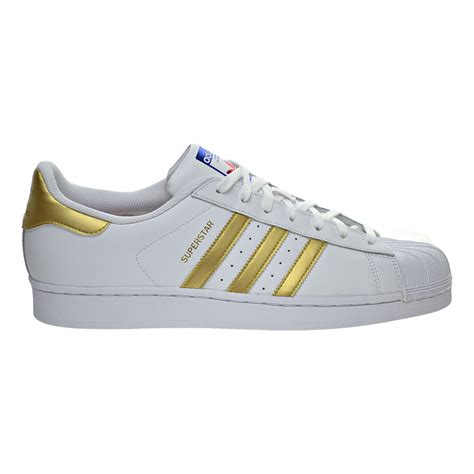 adidas superstar mens shoes whitemetallic goldblue