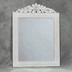white wood bathroom mirror white wooden mirror
