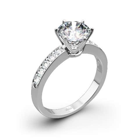 bead set diamonds classic bead set engagement ring 872