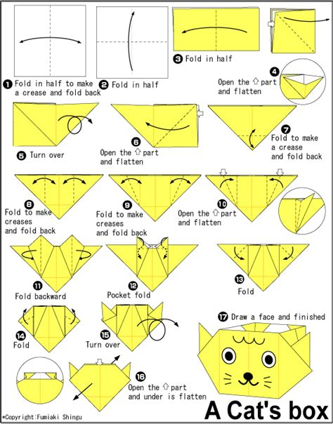 How To Make Origami Cat - origami cat s box