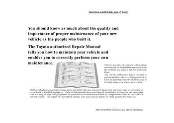 how to download repair manuals 2007 toyota highlander hybrid electronic valve timing 2006 toyota highlander hybrid repair manual information pdf 2 pages