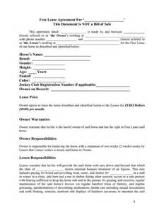 Free Simple Lease Agreement Template Horse Template Printable Free Basic Lease Agreement