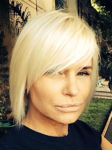 yolanda foster s hair style thinned out bob hair pinterest bobs balayage and