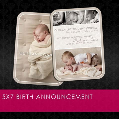 free birth announcements templates free photoshop template 5x7 birth announcement fab n free