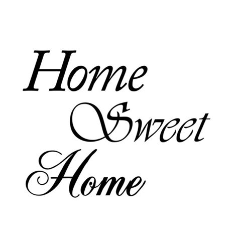 home sweet home muursticker wandsticker interieursticker