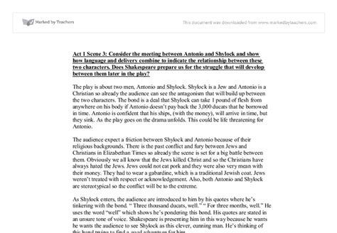 Shylock Essay by Free Sle College Essay On Shylock