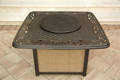 firepit table set hanover traditions 4 outdoor pit table set