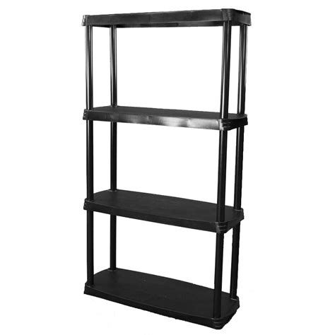 Shop Blue Hawk 45 In H X 24 In W X 14 In D 4 Tier Plastic Plastic Shelving Lowes