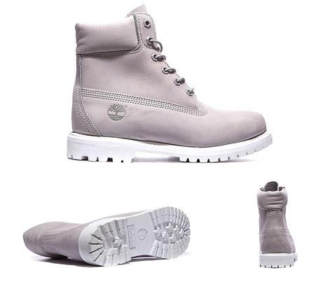 light gray womens timberland womens 6 inch premium boot light grey white