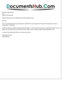 Certification Letter For Receiving Money acknowledgement letter for receipt of money documentshub com