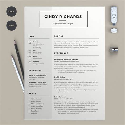 Resume Ideas by Best 25 Creative Cv Template Ideas On Cv