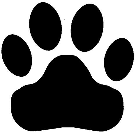 tigers paw print clipart best