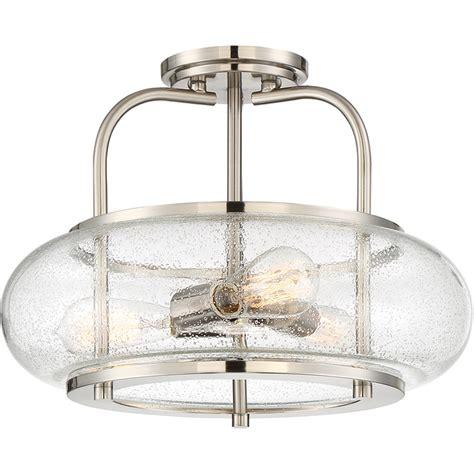 seeded glass ceiling light fixtures seeded glass vintage semi flush ceiling light large