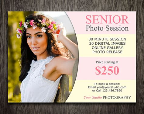 senior card templates for photographers items similar to senior mini sessions photography