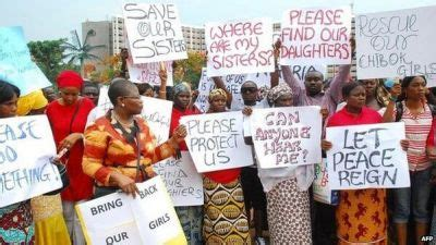nigerian schoolgirls kidnapped by boko haram protests but nigerian girls mass kidnapping is abuja failing against