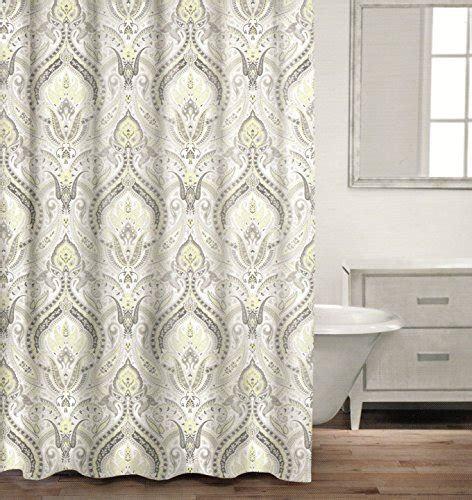gray paisley shower curtain caro home 100 cotton shower curtain floral paisley