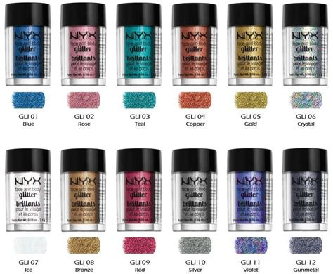 Nyx Glitter nyx cosmetics and glitter color ebay make up