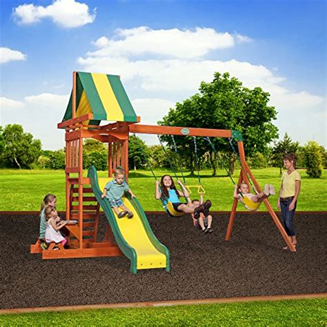 Backyard Discovery Prestige Wood Swing Set by Backyard Discovery Prestige All Cedar Wood Playset Swing