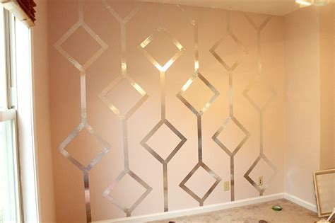 wall paint patterns ilustrated wallpaper walls with diy metallic patterns