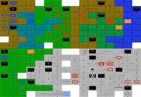 legend of zelda map dungeon 1 legend of zelda map size comparison x post from gaming