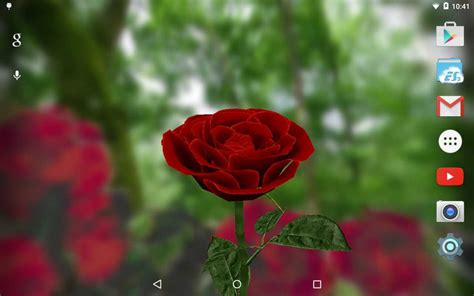 google wallpaper rose 3d rose live wallpaper android apps on google play