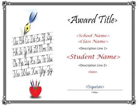 Calligraphy Card Printable Template Free by 78 Images About Award Template On Award