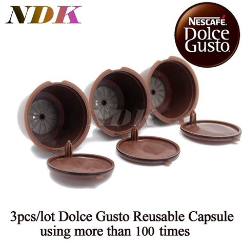 Refillable Capsule For Nescafe Dolce Gusto 3pcs aliexpress buy 3pcs pack refillable dolce gusto coffee capsule nescafe dolce gusto