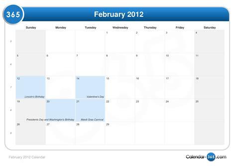 February 2012 Calendar February 2012 Calendar