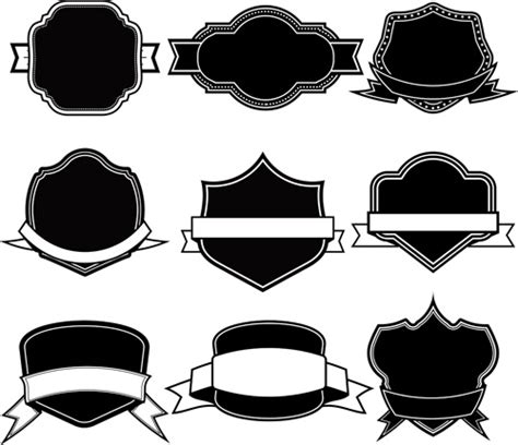 template vector free ribbon with labels blank template vector free vector in