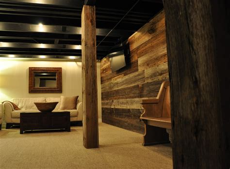 rustic basement ideas modern and rustic rustic basement chicago by