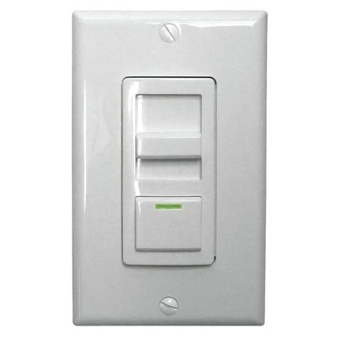 Dimmer Switch For Led Light Bulbs Lithonia Lighting Led Troffer Dimmer Switch Isd Bc 120 277 Wh M10 The Home Depot
