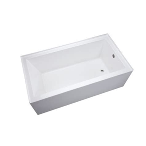 mirabelle bathtub mireds6030rwh edenton 60 x 30 soaking tub white at shop ferguson com