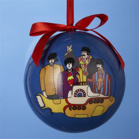beatles yellow submarine decoupage christmas ball tree